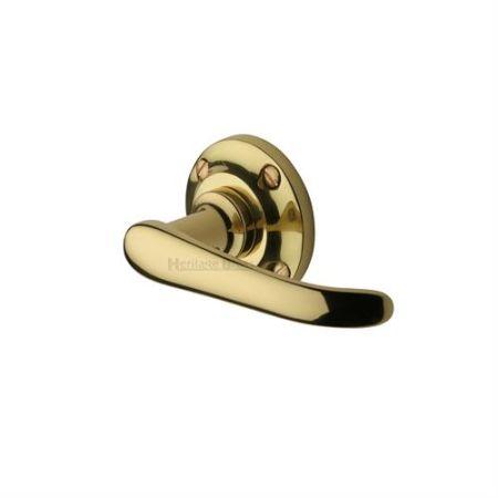 Heritage Brass V720 Windsor Handle on Rose Polished Brass