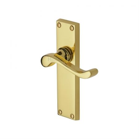 Heritage Brass Bedford Handle on Backplate Polished Brass