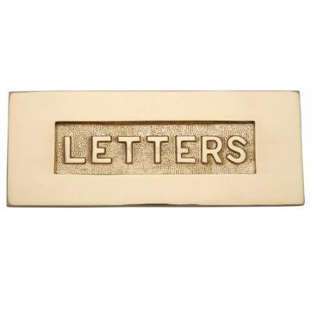 Heritage Brass Embossed Letter Plate V845