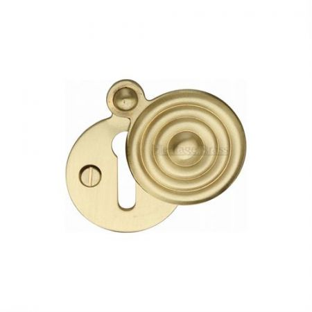 Heritage Brass Reeded Covered Escutcheon V972