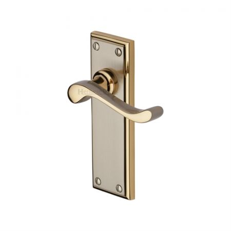 Heritage Brass Edwardian Handle on Backplate Jupiter Finish