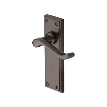 Heritage Brass Edwardian Handle on Backplate Matt Bronze