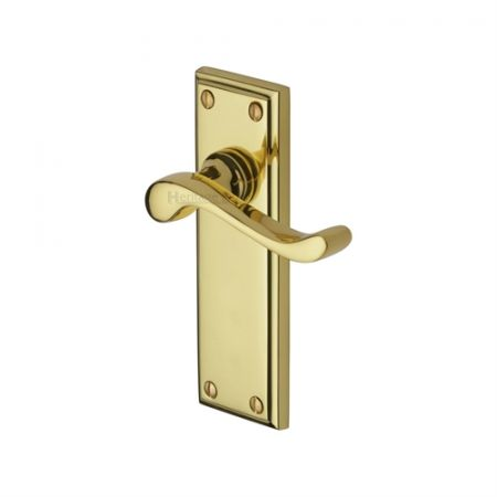 Heritage Brass Edwardian Handle on Backplate Polished Brass