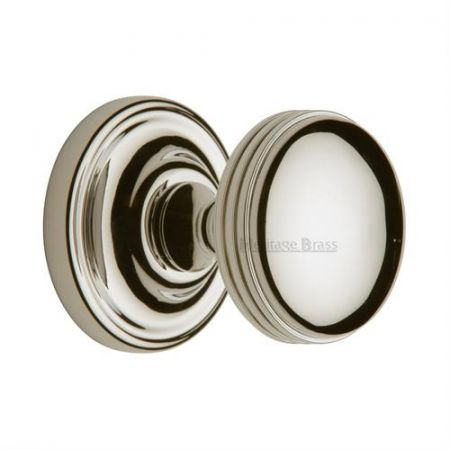 Heritage Brass Whitehall Mortice Knob WHI6429 Polished Nickel